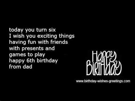 Sixth Birthday Quotes 6th Birthday Wishes Kids Youtube