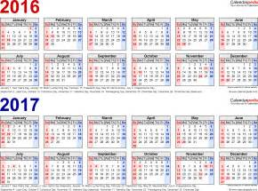 2014 To 2017 Calendar 2016 2017 Calendar Free Printable Two Year Pdf Calendars