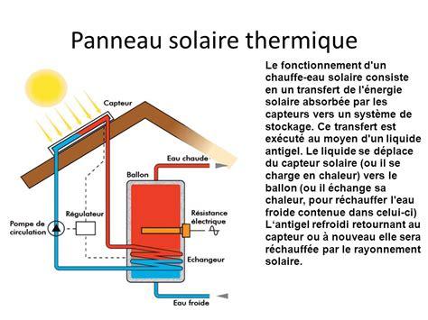Fonctionnement Chauffe Eau Solaire 4638 by Capteur Solaire Thermique Fonctionnement D Un Chauffe