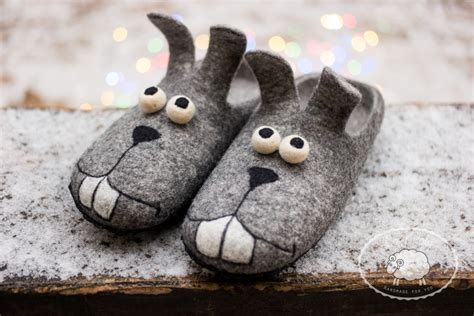 mens funny house slippers easter bunny slippers mens gift funny gift mens slippers house