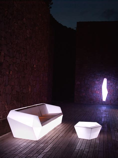 led outdoor table lights faz coffee table outdoor table with white led light glass