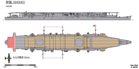 fig of japanese aircraft carrier shoho in 1942 japanese