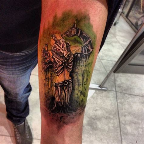 metal gear tattoo based on metal gear solid psycho mantis