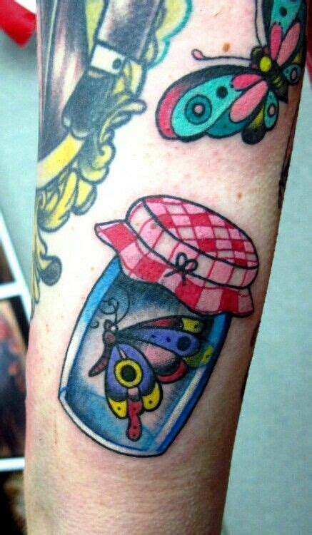 butterfly jar tattoo butterfly in a jar in a bottle tattoos pinterest