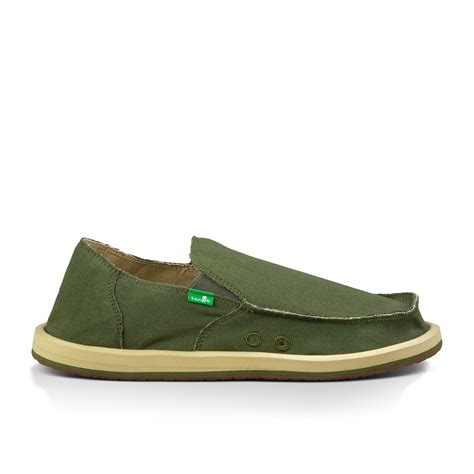 sanuk vagaband s canvas slip on shoes olive 12 ebay