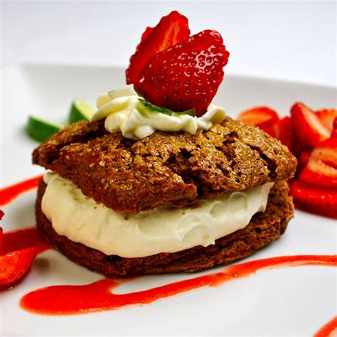 blue kale road a snappy raspberry lime rickey chocolate cherry shortcakes recipe dishmaps