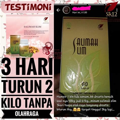 salimah slim langsing alami  ribet  herbal
