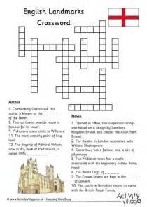 english landmarks crossword