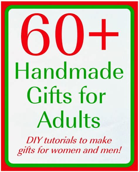 Great Handmade Gifts - great handmade gifts for adults 60 tutorials
