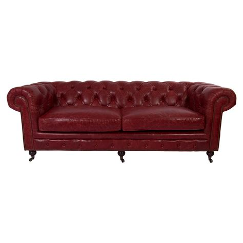 Ebay Chesterfield Sofa Vintage Leder Design Dreisitzer Sofa Chesterfield Antik Luxus Rot