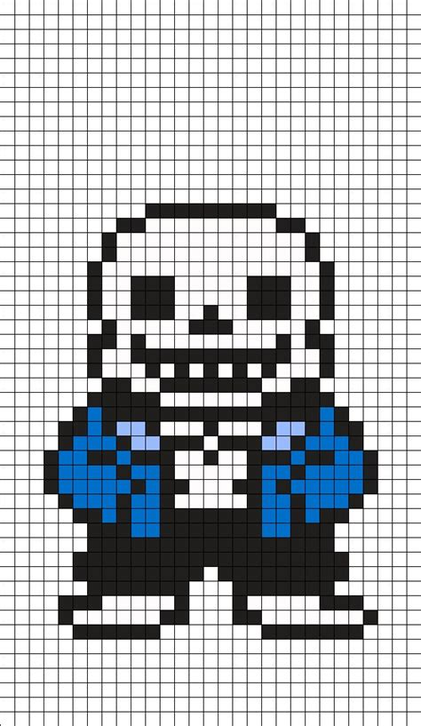 Sans Templates sans undertale perler bead pattern minecraft build