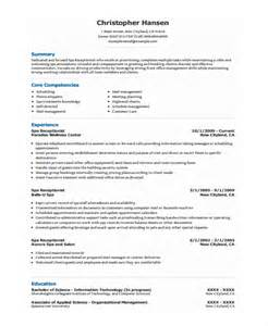 Salon Receptionist Sle Resume by Receptionist Resume Template 7 Free Word Pdf Document Free Premium Templates