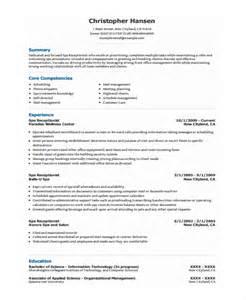 Resume Sample For Receptionist – front desk receptionist resume sample   anuvrat.info