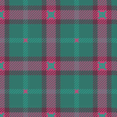 skull radiation plaid 155 teal pink fabric wickedrefined