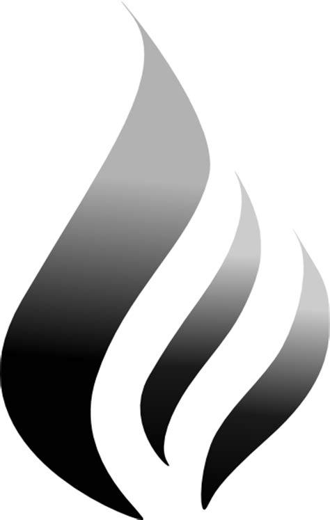B&w Flame Logo Black Clip Art at Clker.com - vector clip