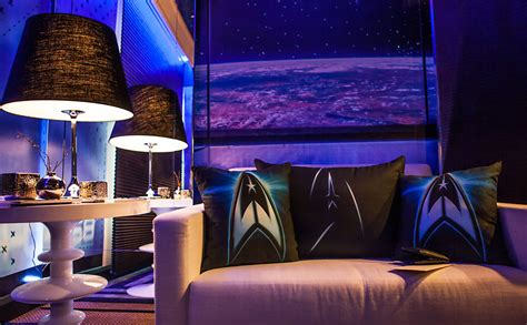 star room the ultimate star trek hotel room global geek news