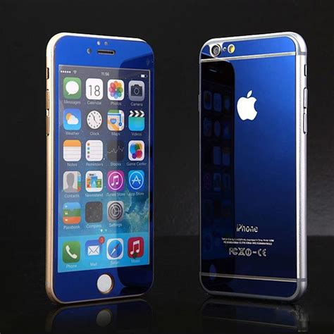 Tempered Glass 3d Gold Iphone 4 4g 4s 5 5g 5s mirror tempered glass front back screen protector cover