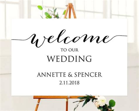 24x36 Welcome To Our Wedding Sign Template Welcome To Our Wedding Template Free