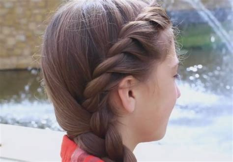 Step by Step tutorial for French Twist into Side Braid Hairstyle