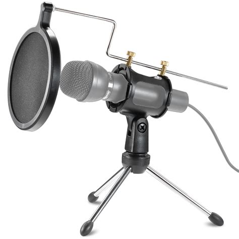neewer microphone shock mount kit pop filter desktop