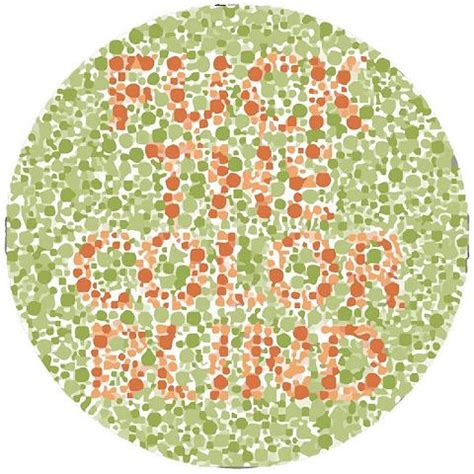Color Blind T Shirt Color Blindness Test Lake Side Medical Help