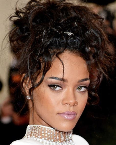 Rihanna Updo Hairstyles by Rihanna Hairstyle Hairstylegalleries