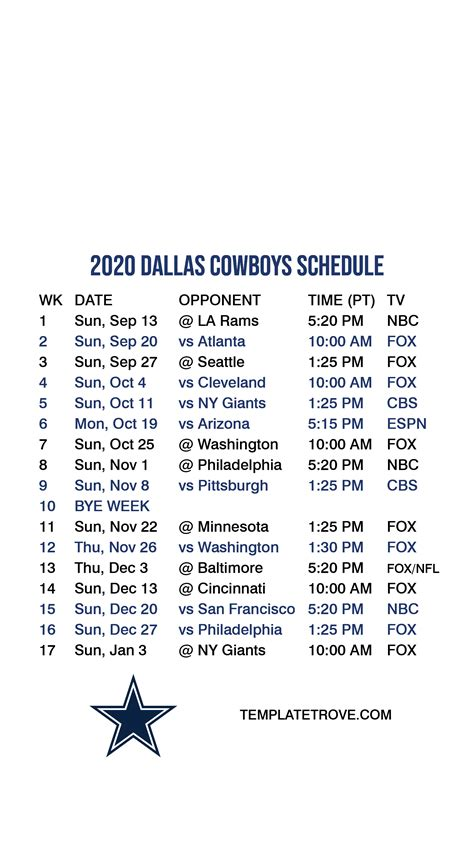 dallas cowboys lock screen schedule  iphone