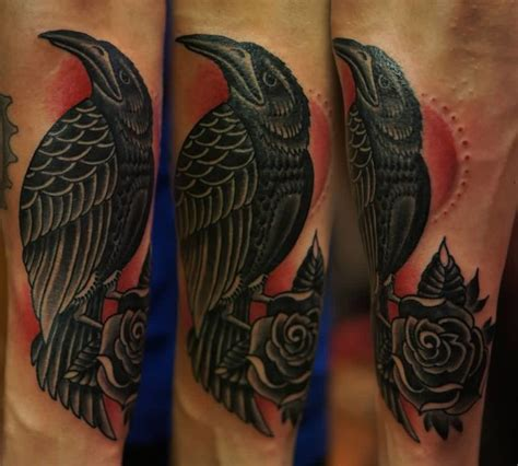 old crow tattoo black ideas and black designs page 2