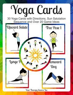 printable yoga flash cards self regulation flash cards provide children with self