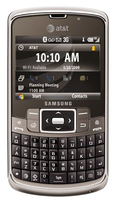 Samsung Wifi Qwerty at t samsung qwerty smartphone itech news net