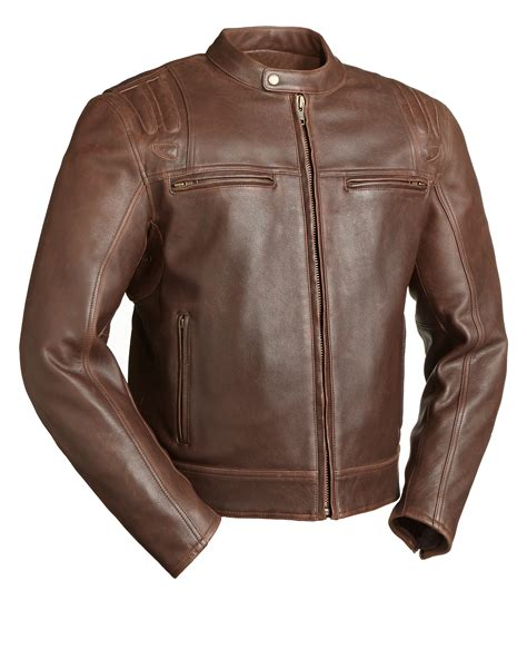 brown motorcycle jacket carbon fim241caz men s leather motorcycle jacket brown