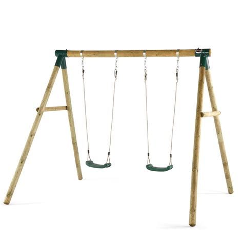 wooden swing and slide set uk plum marmoset wooden swing set all round fun