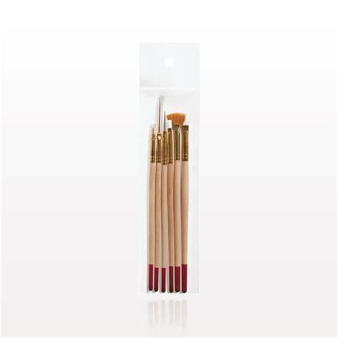 set nail brush qosmedix 6 professional nail brush set