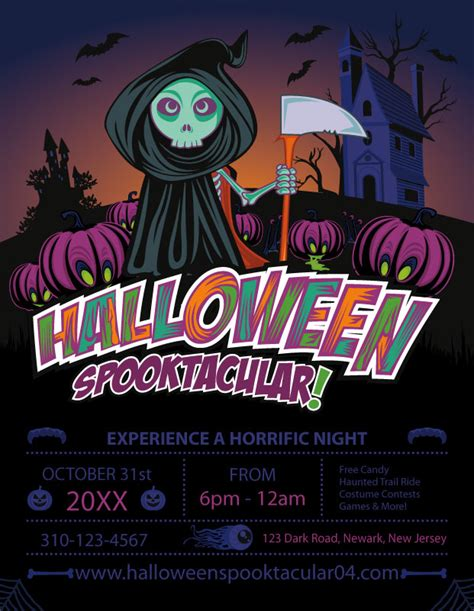 Free Halloween Templates Vector Files Nextdayflyers Next Day Flyers Templates