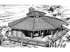 Octagon Log Homes Howardville Waterfront Home Plan 072d 0706 House Plans