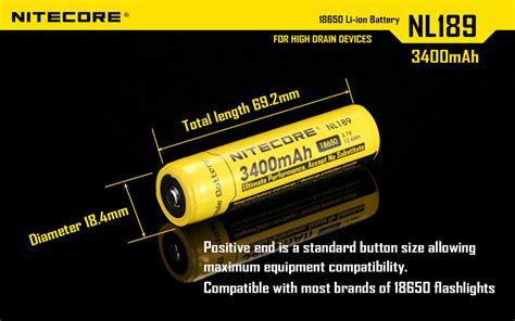 Termurah Nitecore 18650 Rechargeable Li Ion Battery 3400mah 3 7v nitecore nl189 3400mah protected 18650 rechargeable li ion batteries ebay