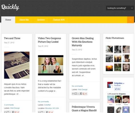 quickly blogger template newbloggerthemes com