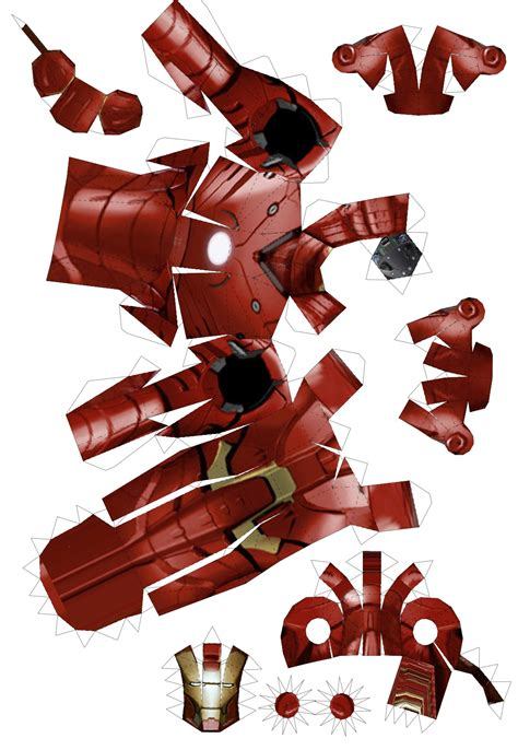 Ironman Papercraft - papercraft of iron from w3 and by trivto on