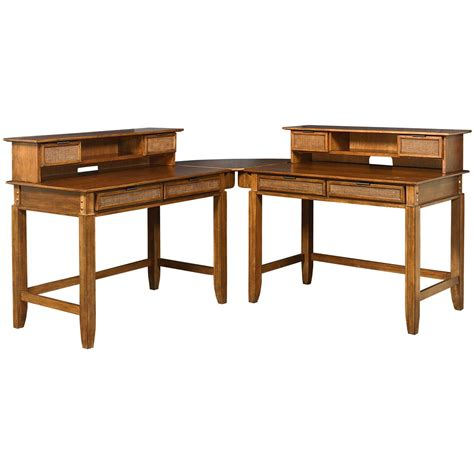 Home Styles 174 Jamaican Bay Student Desk Hutch Combo Student Desk For Home