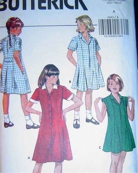 sewing pattern uniform children s girls school uniform sewing pattern multi size