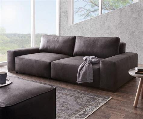 delife sofa delife bigsofa lanzo anthrazit 270x125 cm vintage otto