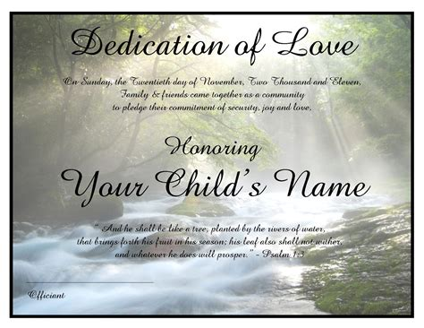 Wedding Blessing Certificate by Baby Blessing Certificates Costello Wedding Ceremonies