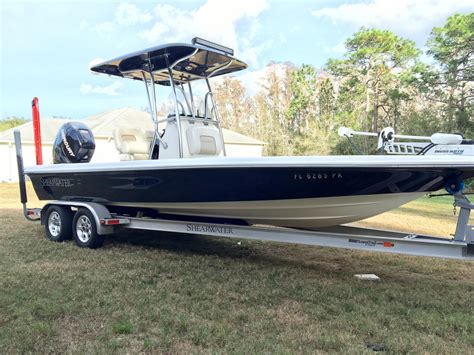 used shearwater boats for sale in fl 2013 used shearwater boatworks 23 ltz bay boat for sale