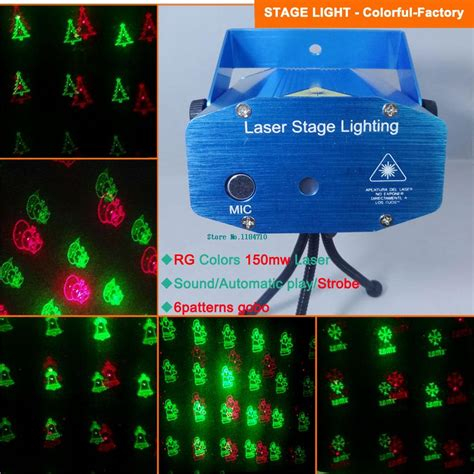 christmas pattern laser projector new mini red green 6 patterns laser projector christmas