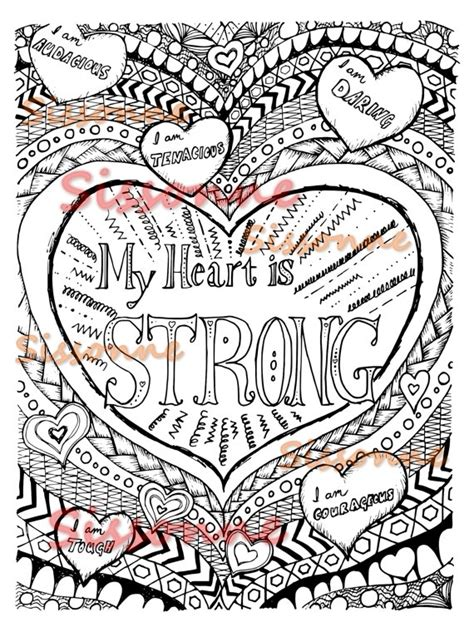 positive affirmation coloring page instant