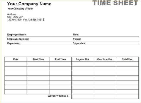 Employee Time Card Template by New Time Sheets Printable Time To Regift