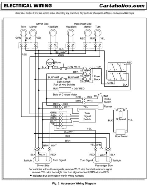 cartaholics tech ezgo txt accessories wiring diagram
