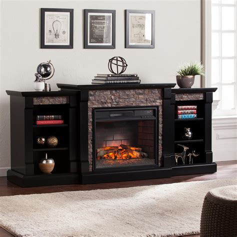 high quality fireplaces with tv 4 stone fireplace with tv southern enterprises nassau 71 75 in w infrared faux