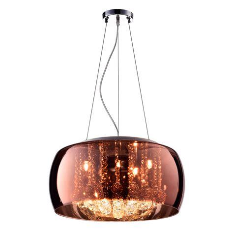 Bola Lu Downlight lustre plafon soho cobre em cristal vidro e metal 248 50cm