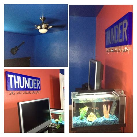 Okc Thunder Bedroom Decor by Okc Thunder Bedroom Sports Thunder Signs And Bedrooms